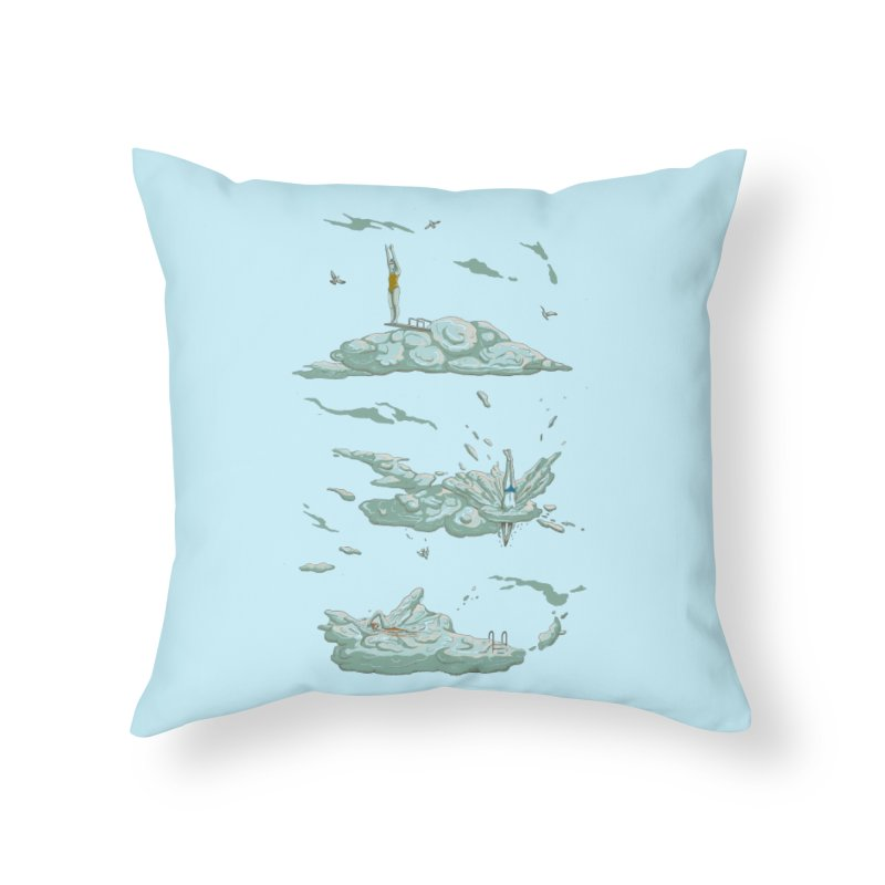 Sky Dive Home Throw Pillow by Made With Awesome