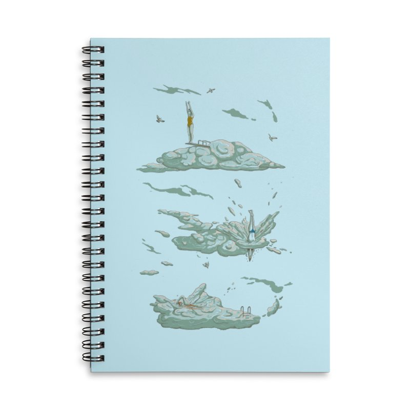 Sky Dive Accessories Lined Spiral Notebook by Made With Awesome