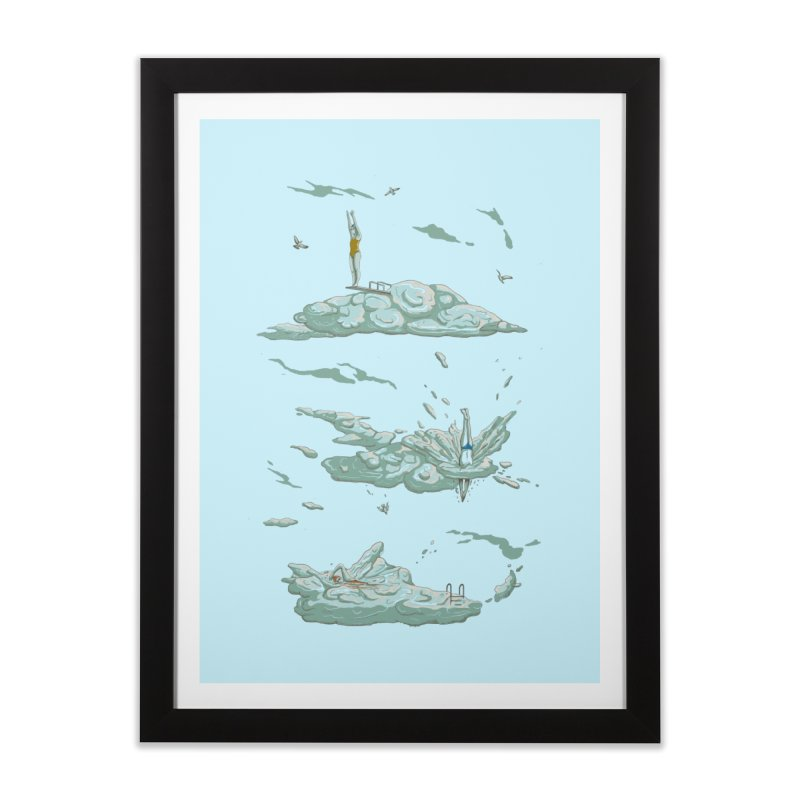 Sky Dive Home Framed Fine Art Print by Made With Awesome