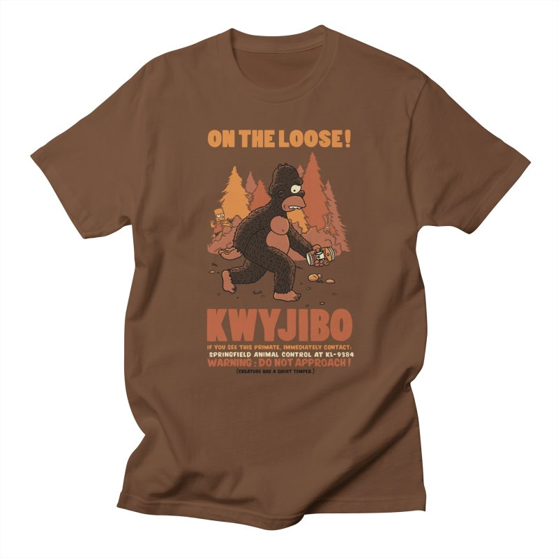 KWYJIBO On The Loose! in Men's T-Shirt Brown by Made With Awesome