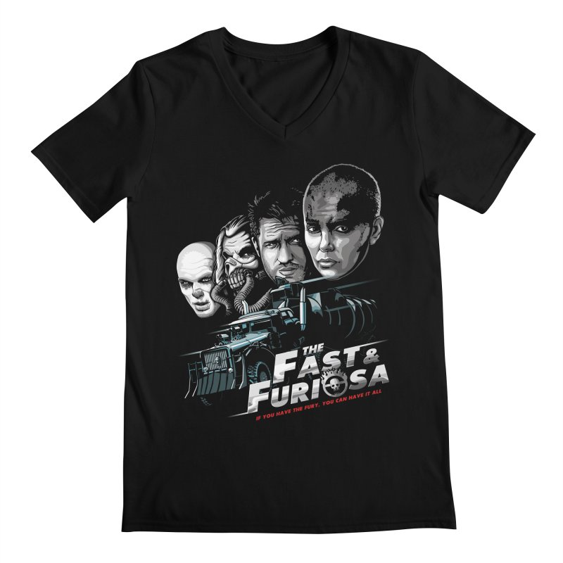 The Fast and Furiosa Men's Regular V-Neck by Made With Awesome