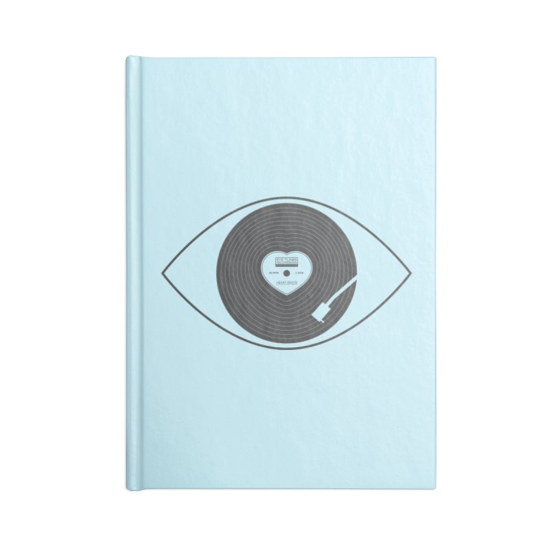 Eye Tunes Accessories Blank Journal Notebook by Made With Awesome