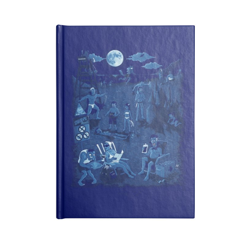 A Night At The Beach Accessories Blank Journal Notebook by Made With Awesome