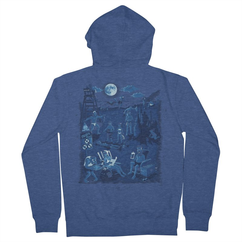 A Night At The Beach Men's French Terry Zip-Up Hoody by Made With Awesome