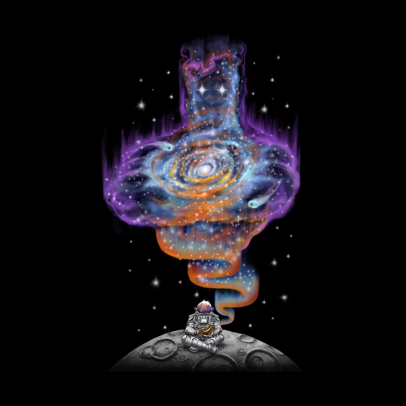 Space Genie Men's V-Neck by Made With Awesome