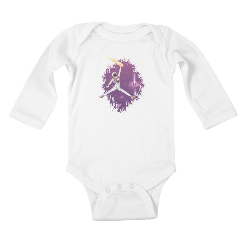Space Jamz Kids Baby Longsleeve Bodysuit by Made With Awesome