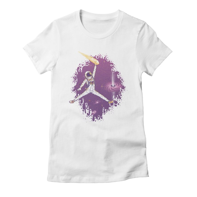 Space Jamz Women's Fitted T-Shirt by Made With Awesome