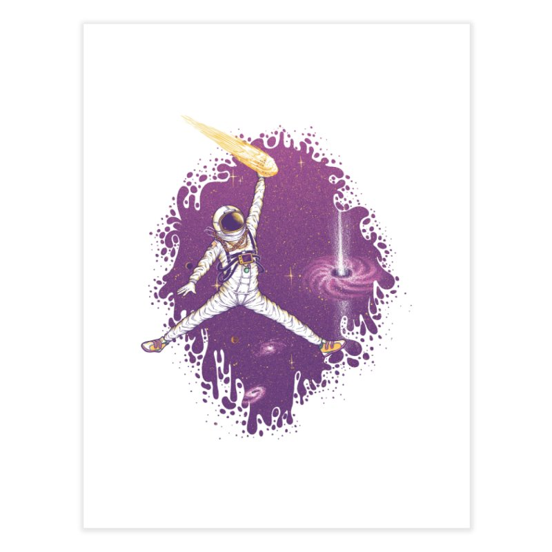 Space Jamz Home Fine Art Print by Made With Awesome