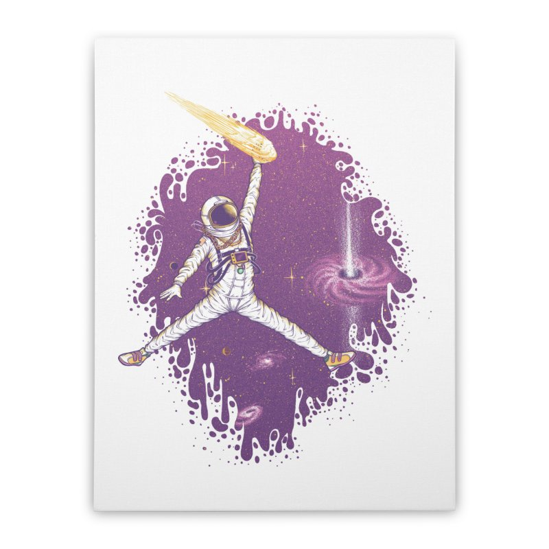 Space Jamz Home Stretched Canvas by Made With Awesome