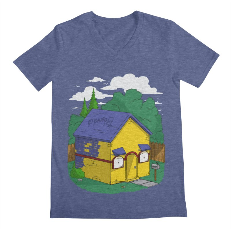 Whose House? Milhouse! Men's V-Neck by Made With Awesome