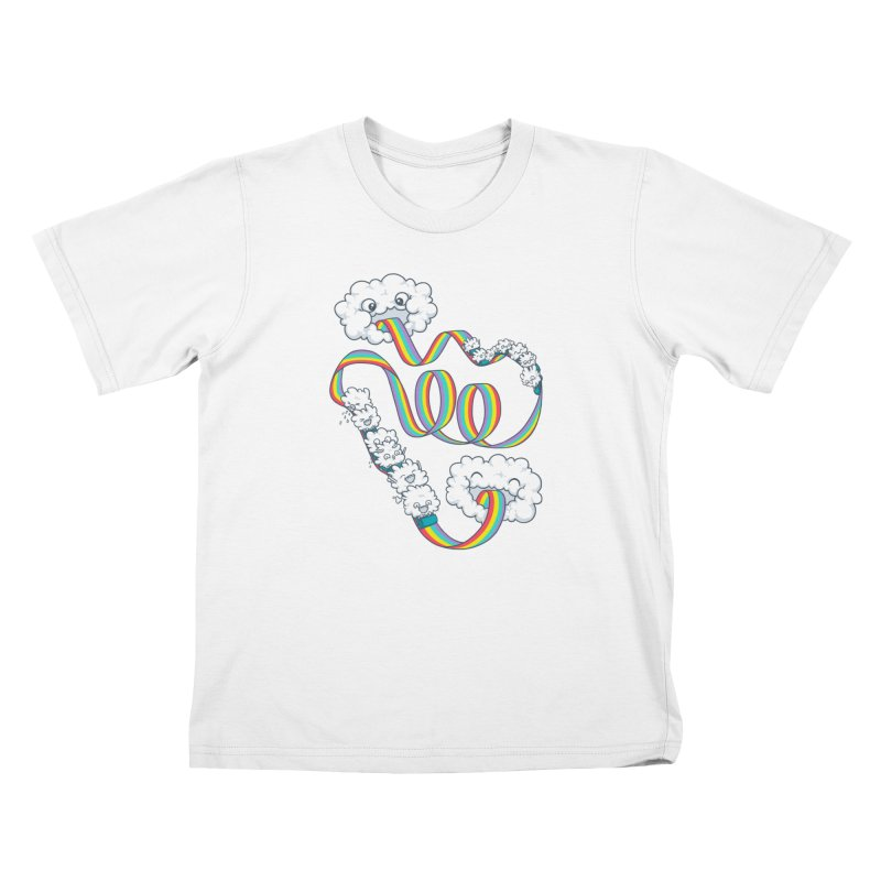 Rainbow Coaster Kids T-Shirt by Made With Awesome