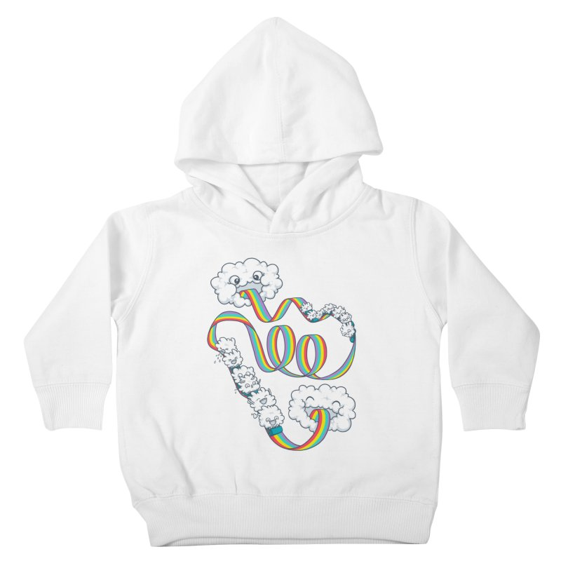 Rainbow Coaster Kids Toddler Pullover Hoody by Made With Awesome