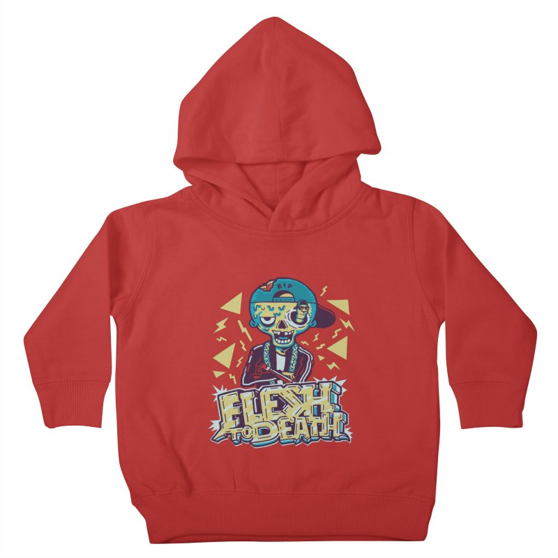 Flesh To Death Kids Toddler Pullover Hoody by Made With Awesome