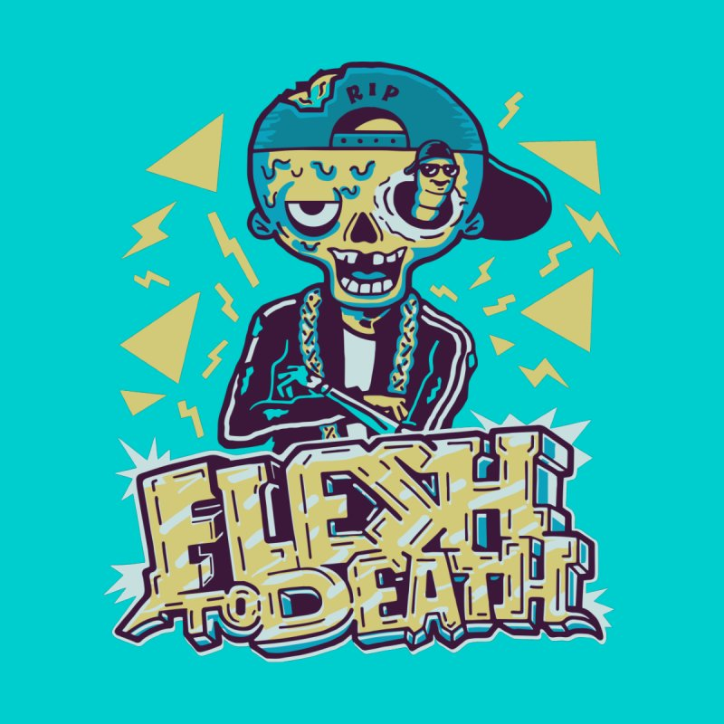Flesh To Death Guys Zip-Up Hoody by Made With Awesome