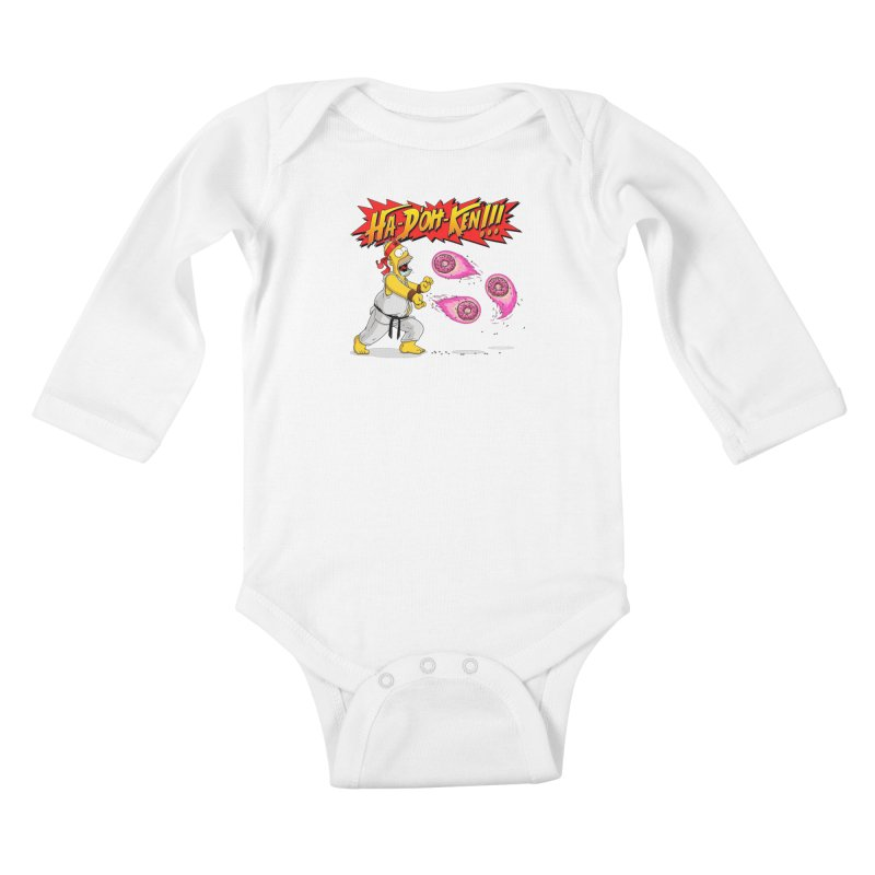 Sweet Fighter Kids Baby Longsleeve Bodysuit by Made With Awesome