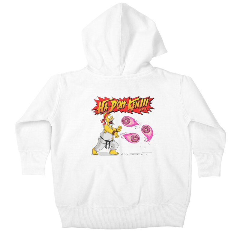 Sweet Fighter Kids Baby Zip-Up Hoody by Made With Awesome