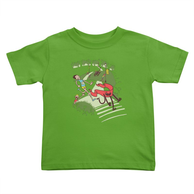 Not Quite Finished Line Kids Toddler T-Shirt by Made With Awesome
