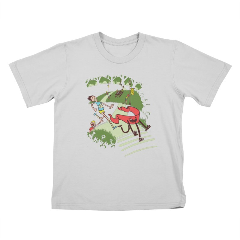 Not Quite Finished Line Kids T-Shirt by Made With Awesome