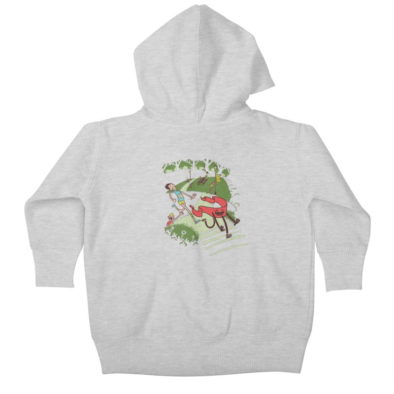 Not Quite Finished Line Kids Baby Zip-Up Hoody by Made With Awesome