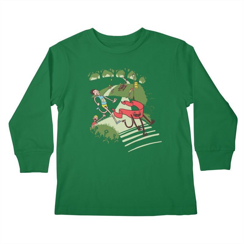 Not Quite Finished Line Kids Longsleeve T-Shirt by Made With Awesome