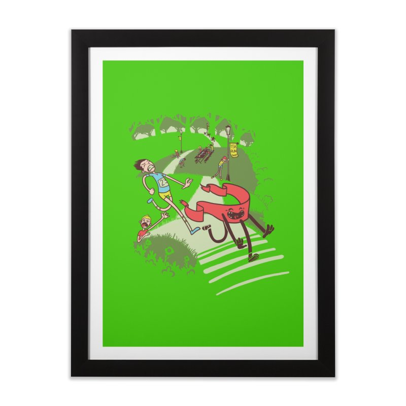 Not Quite Finished Line Home Framed Fine Art Print by Made With Awesome