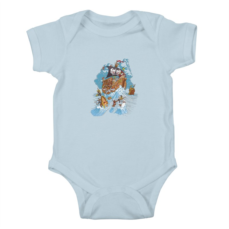 Noah's Arrrk Kids Baby Bodysuit by Made With Awesome