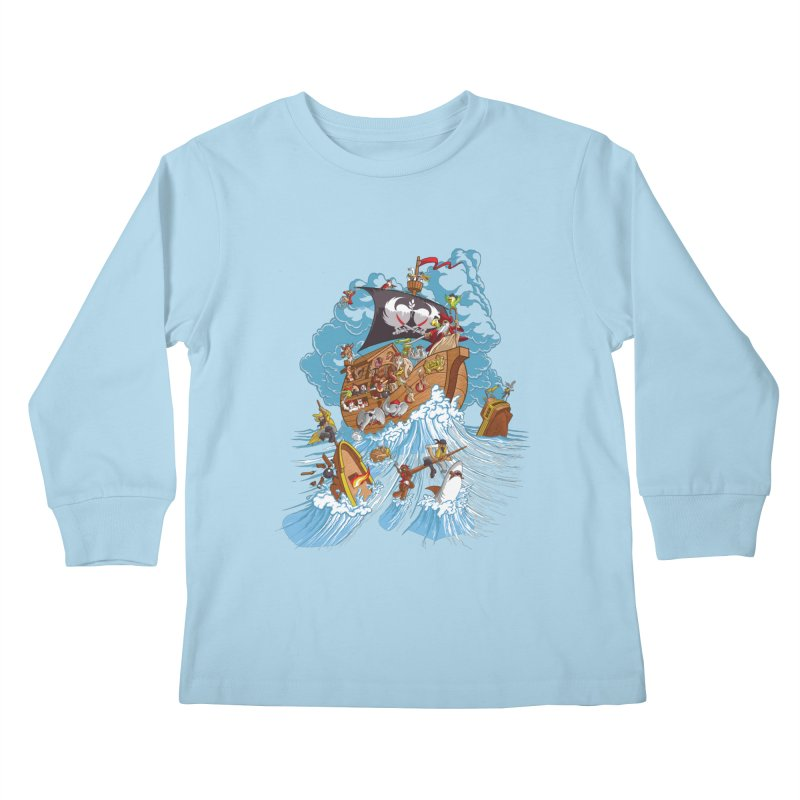 Noah's Arrrk Kids Longsleeve T-Shirt by Made With Awesome