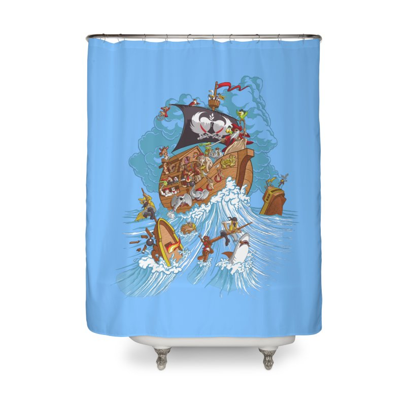 Noah's Arrrk Home Shower Curtain by Made With Awesome