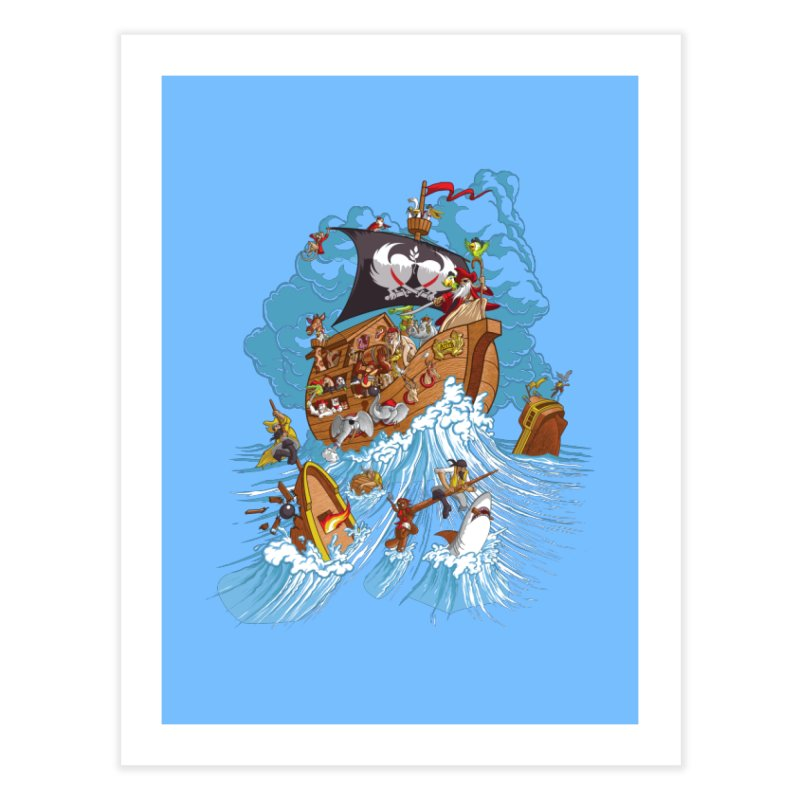 Noah's Arrrk Home Fine Art Print by Made With Awesome