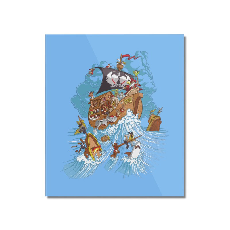 Noah's Arrrk Home Mounted Acrylic Print by Made With Awesome