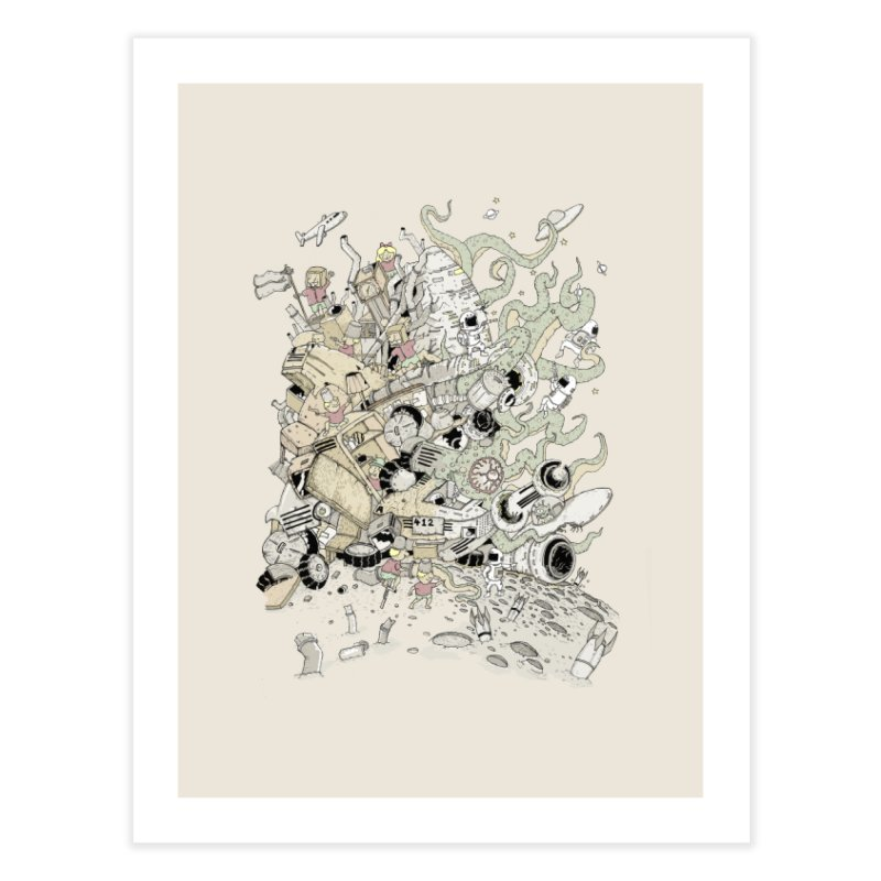 Imagine Nation Home Fine Art Print by Made With Awesome