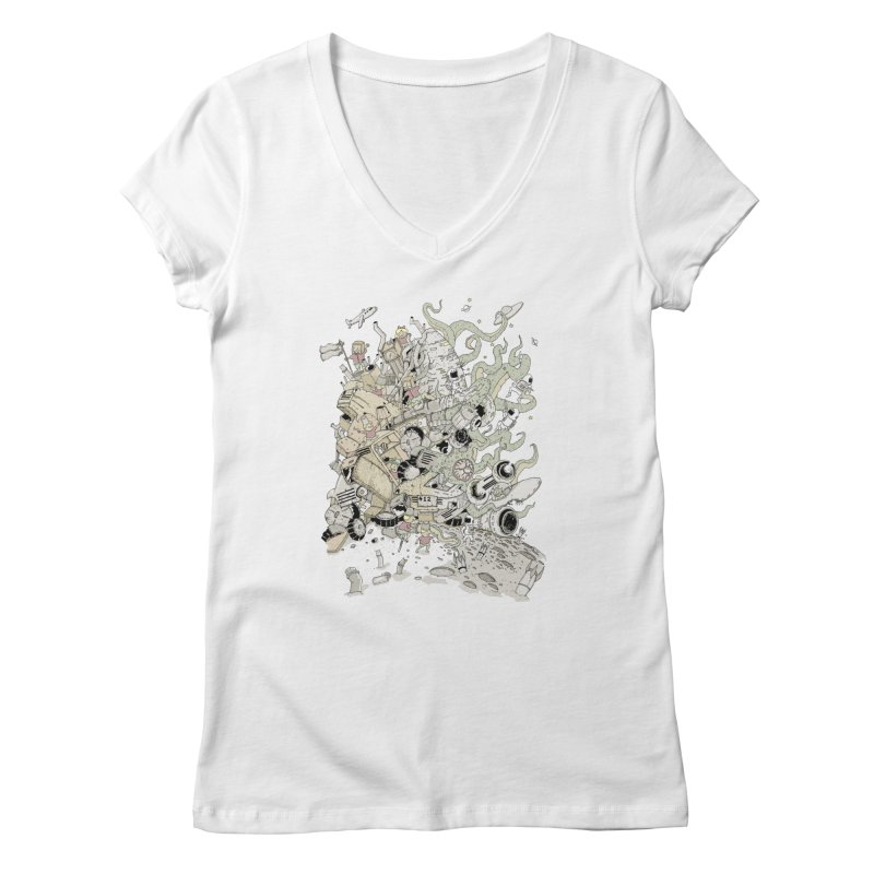 Imagine Nation Women's V-Neck by Made With Awesome