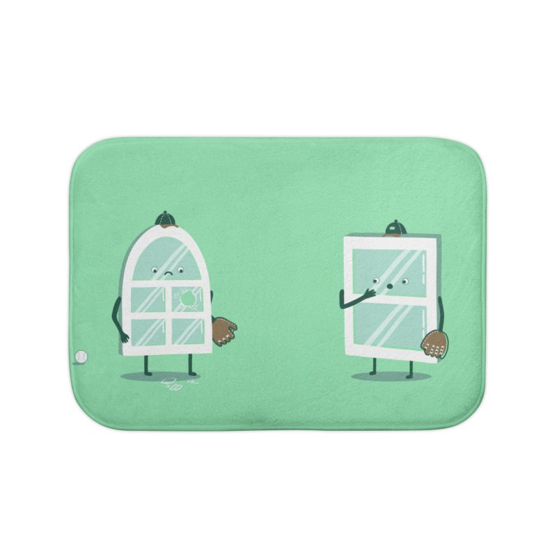 Window Pain Home Bath Mat by Made With Awesome