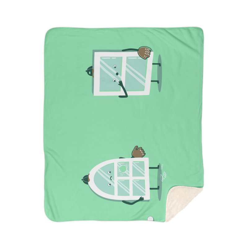 Window Pain Home Blanket by Made With Awesome