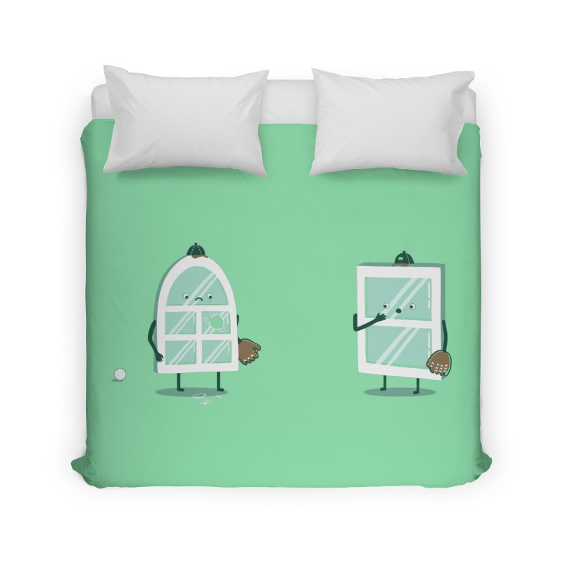 Window Pain Home Duvet by Made With Awesome