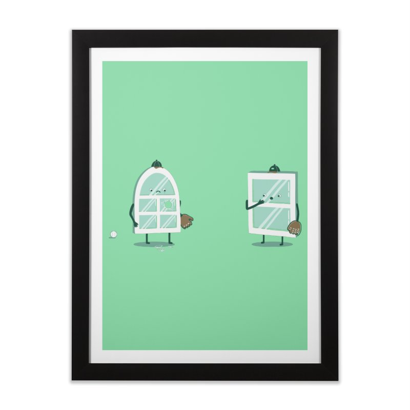 Window Pain Home Framed Fine Art Print by Made With Awesome