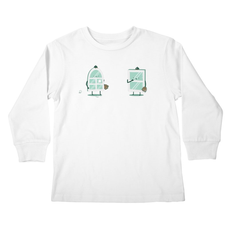 Window Pain Kids Longsleeve T-Shirt by Made With Awesome