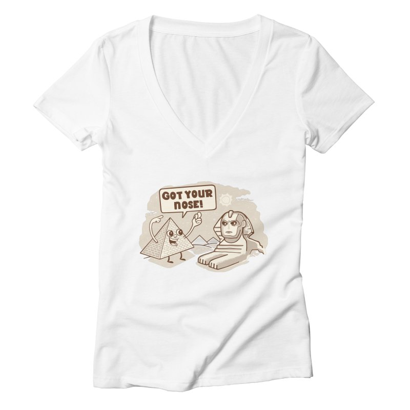 Sphinx Hijinks Women's V-Neck by Made With Awesome