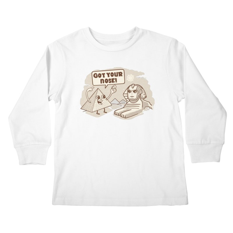 Sphinx Hijinks Kids Longsleeve T-Shirt by Made With Awesome