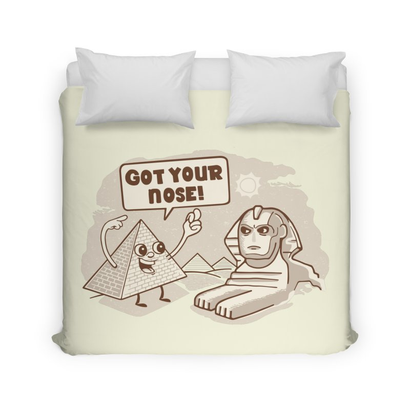 Sphinx Hijinks Home Duvet by Made With Awesome