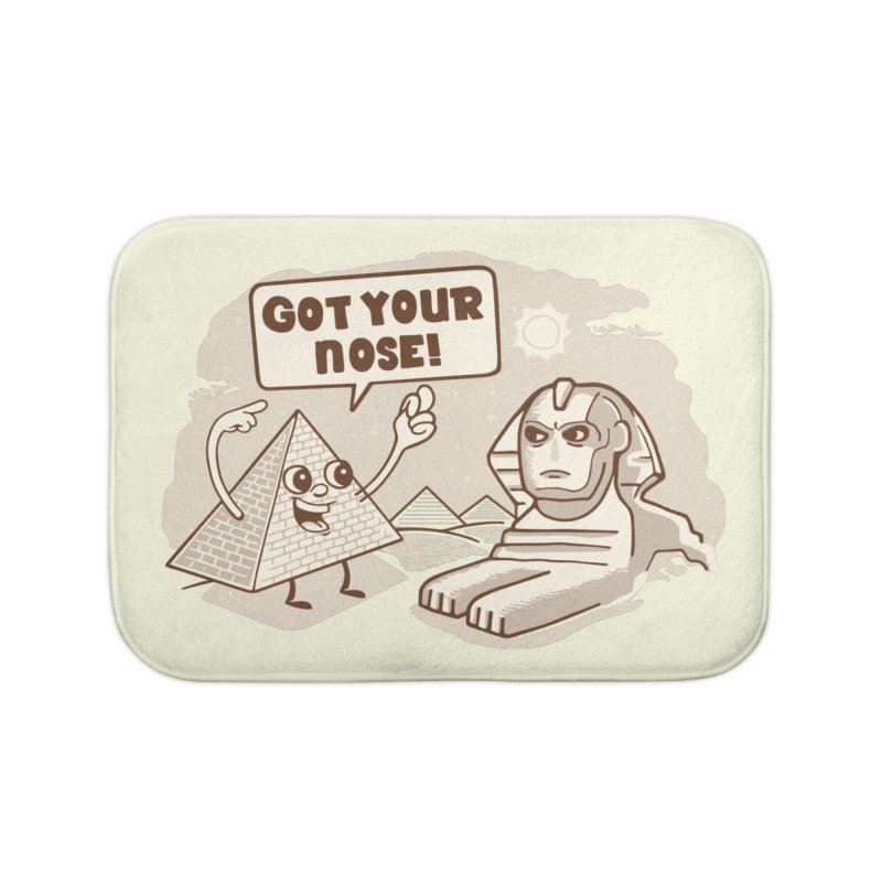 Sphinx Hijinks Home Bath Mat by Made With Awesome