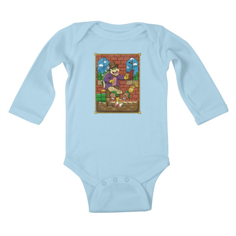 Oompa Goombas Kids Baby Longsleeve Bodysuit by Made With Awesome