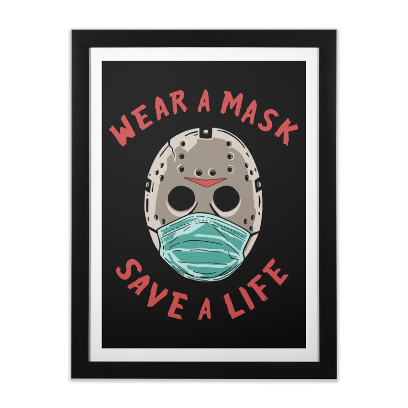 Save A Life Home Framed Fine Art Print by Made With Awesome