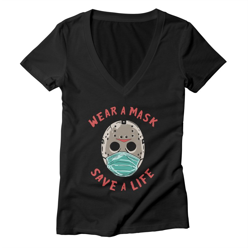 Save A Life Women's V-Neck by Made With Awesome