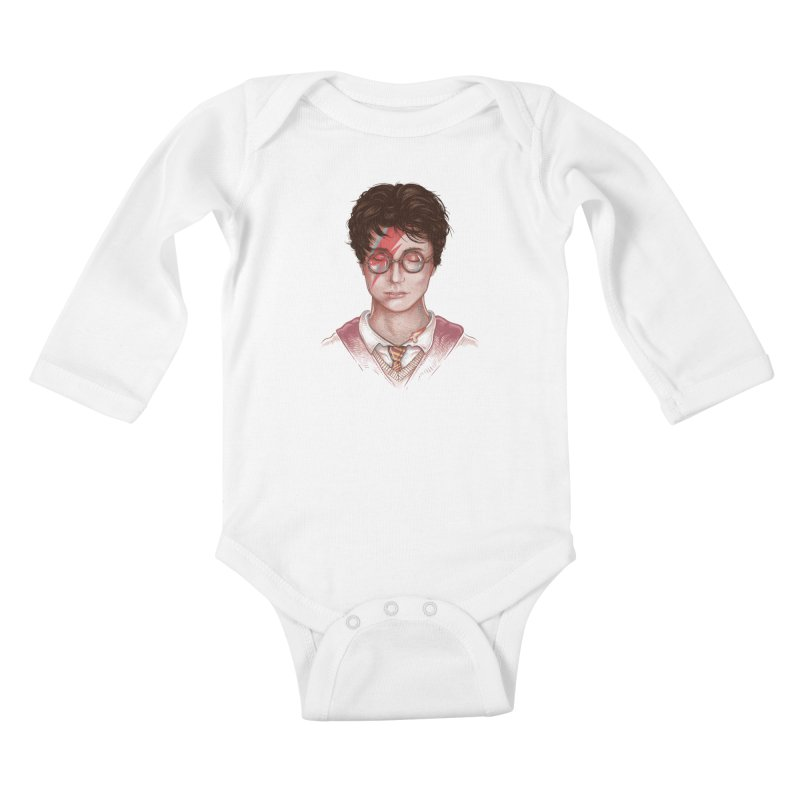 Harry Stardust Kids Baby Longsleeve Bodysuit by Made With Awesome