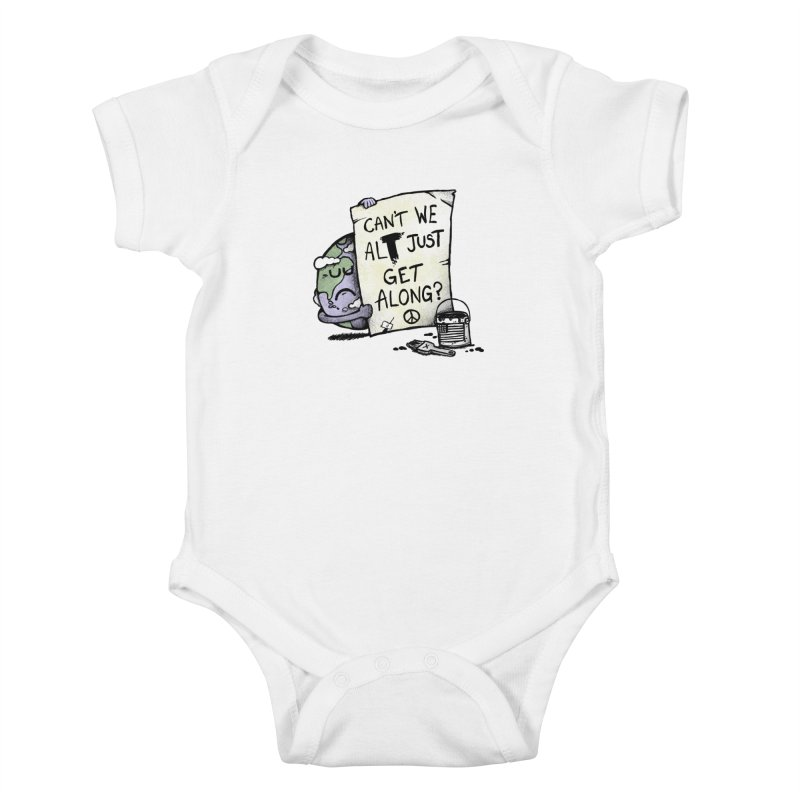 Can't We ALT Kids Baby Bodysuit by Made With Awesome