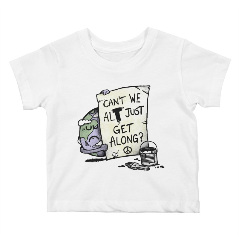 Can't We ALT Kids Baby T-Shirt by Made With Awesome