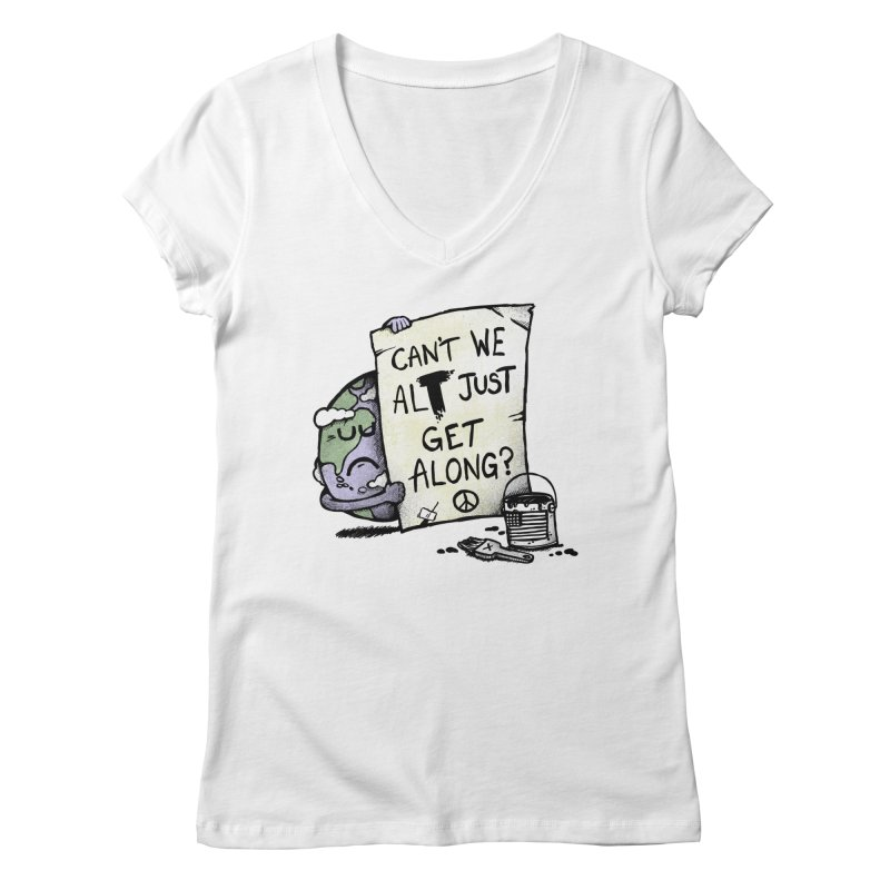 Can't We ALT Women's V-Neck by Made With Awesome