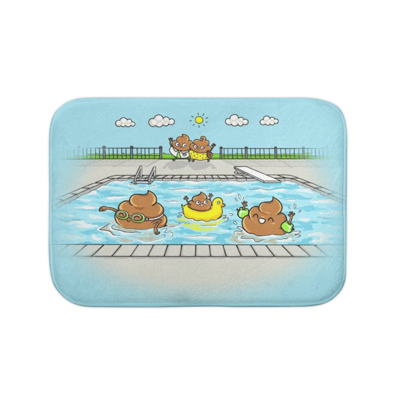 Dropping The Kids Off Home Bath Mat by Made With Awesome