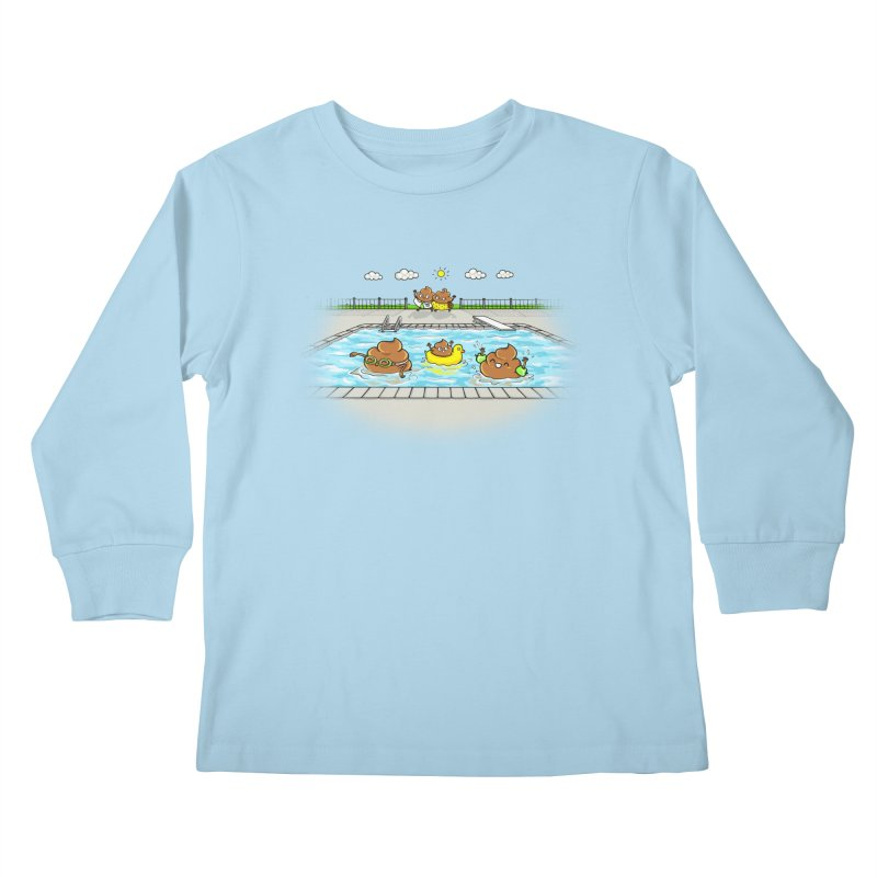 Dropping The Kids Off Kids Longsleeve T-Shirt by Made With Awesome